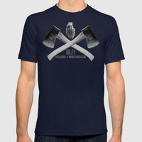 EGGS Mens Fitted Tee Navy SMALL