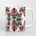 Bright Folk Art Pattern - hot pink, orange, blue & green Mug