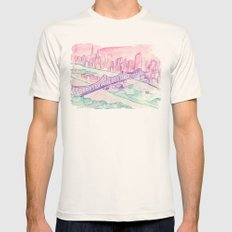 Queensboro Bridge Mens Fitted Tee Natural SMALL