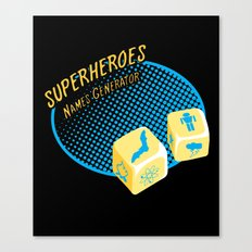 Super-Heroes-Name-Generator Canvas Print