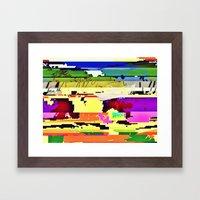 Paint On The Monitor #2 Framed Art Print