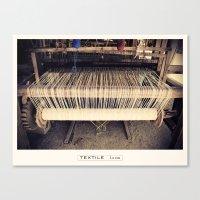 Textile Series - Loom Canvas Print