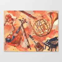 Music, Musicians, Guitar… Canvas Print
