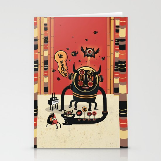 Insect catcher Stationery Card
