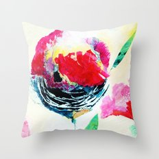 Appleflowerbright Throw Pillow