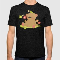Hello Bear Mens Fitted Tee Tri-Black SMALL