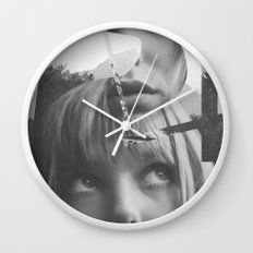She left pieces of her life Wall Clock