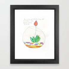 Terrarium Flower Framed Art Print