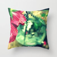Rose and Chain Throw Pillow