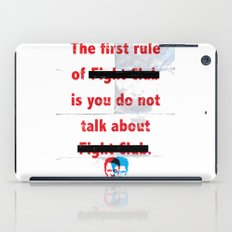The First Rule Of Fight … iPad Case
