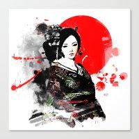 Kyoto Geisha Japan Canvas Print