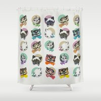 Cats & Bowties Shower Curtain