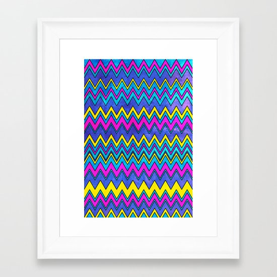 Neon Wave Framed Art Print