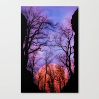 Moonrise Canyon Canvas Print