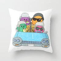 Holiday Vampire Weekend Throw Pillow