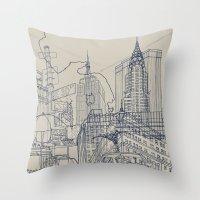 New York! Throw Pillow