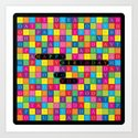 Wordsearch Love: Happy Birthday To You Art Print