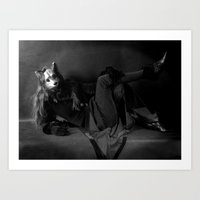 The Rabbits Curious Frie… Art Print