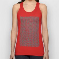 Hand Knit Grey Unisex Tank Top