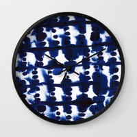 Parallel Indigo Wall Clock