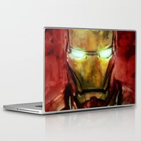 iron man Laptop & iPad Skins featuring Iron Man by SachsIllustration