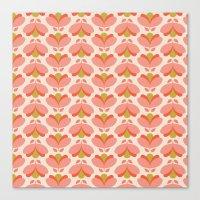 Peach Tulip Canvas Print