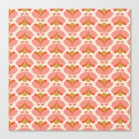 Peach Tulip Canvas Print