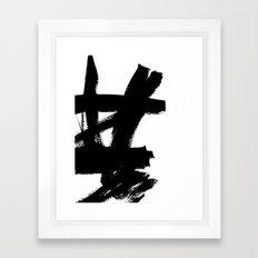 Abstract Black & White 2 Framed Art Print