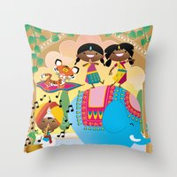 India Party Throw Pillow