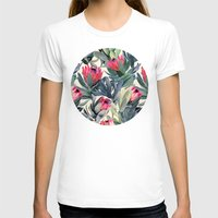flower T-shirts featuring Painted Protea Pattern by micklyn