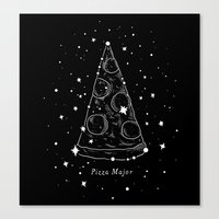 Pizza Major Canvas Print
