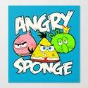 Angry Spongebird - Angry Birds vs SpongeBob Canvas Print