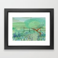 Framed Art Print featuring Country Lane by Alannah Brid
