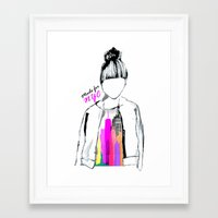 MADE FOR NYC Framed Art Print