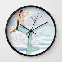 Seaside Mermaid Wall Clock