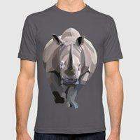 Rhino Mens Fitted Tee Asphalt SMALL
