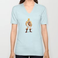 By The Power Of 8-Bit Unisex V-Neck