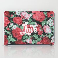 Red Pink Roses Chic Love… iPad Case