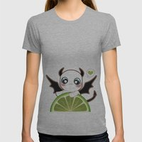 Kawaii Monster  Womens Fitted Tee Athletic Grey SMALL