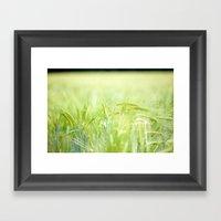 Grainy Green Framed Art Print