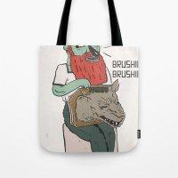 brushie brushie Tote Bag