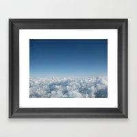 Fluffy Clouds II Framed Art Print