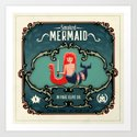 Delicious Mermaid Art Print