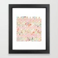 Pastel Watercolor Floral… Framed Art Print