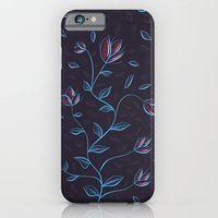 Abstract Glowing Blue Flowers iPhone 6 Slim Case