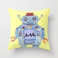 Robot Robotic! Throw Pillow