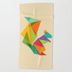 Fractal geometric Squirrel Beach Towel