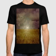 When we walked in fields of gold Mens Fitted Tee Black SMALL