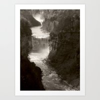River gorge Art Print