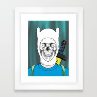 Finnished With Life Clear Framed Art Print